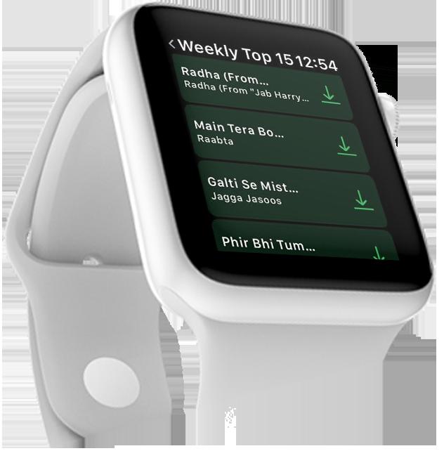 Saavn on Apple Watch